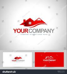 Mountain Chalet House Plans House Logo Design Real Estate Logo Stock Vector 254700649