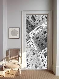 Futuristic Doors by Removable Wallpaper Mural Peel U0026 Stick Door Sticker Futuristic