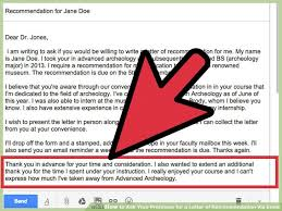 ideas of how to ask someone write a letter of recommendation via