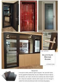 factory supply cheap aluminum glass swing door design malaysia