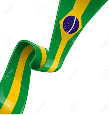 Blank Brazil Flag Brazil Ribbon Flag On White Background Royalty Free Cliparts
