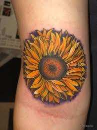 sunflower tattoo to brighten your day