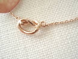 gold friend necklace images Tiny gold silver rose gold knot necklace simple every day jpg
