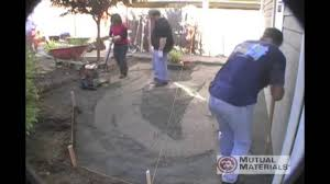 Patio Paver Base Material by Diy Patio Paver Instruction Laying The Base Foundation Youtube