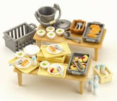 sylvanian families cuisine dinners set by sylvanian families 9 99 days in