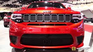jeep grand cherokee red interior 2018 jeep grand cherokee track hawk exterior and interior