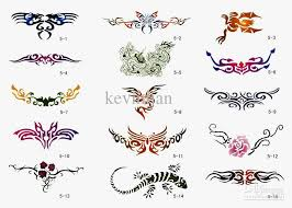 2018 temporary airbrush tattoo stencils book template booklet 5 30