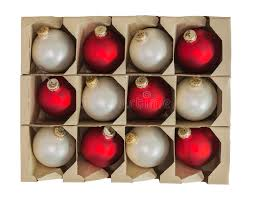 ornament decorations in box isolated stock image image