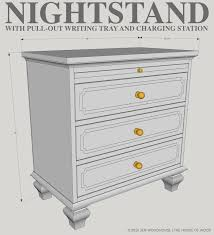 Nightstand With Charging Station by Ryobi Nation