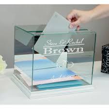 box personalized buy glass wedding card box personalized rectangle money box online