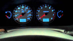 nissan sentra light blue drop in led cluster lighting 2002 maxima se youtube