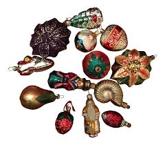vintage ornaments from germany set of 13 chairish