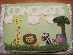 zoo animal baby shower cake cakecentral com