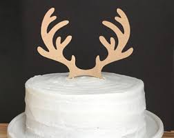 antler cake topper cake toppers silvermisted