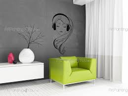 girl with headphones wall stickers vds1008en artpainting4you eu girl with headphones music dance wall decals
