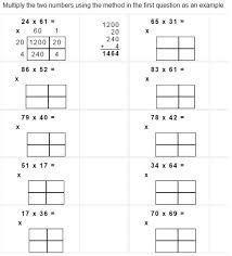 expanded algorithm multiplication worksheets free worksheets
