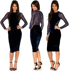 vivian velvet midi bodycon dress dream store pinterest style