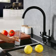 No Water In Kitchen Faucet Online Get Cheap 3 Way Faucet Filter Black Aliexpress Com