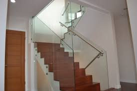 Frameless Glass Handrail Photos Hgtv Rustic Wood Stairs With Modern Glass Railing Loversiq