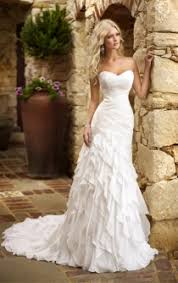 wedding for dress fabulous strapless fit and flare tiered ruffle skirt