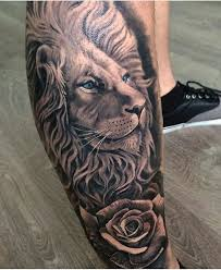 lion tattoo rose danielhuscroft com