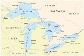 map of michigan lakes map of great lakes royalty free cliparts vectors and stock