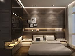 bed back wall design un dormitor in care s a optat pentru un decor modern in care