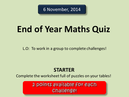maths quiz 2013 by deselby teaching resources tes