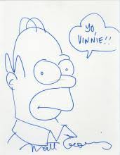view matt groening art prices and auction results