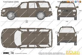2009 Ford Explorer The Blueprints Com Vector Drawing Ford Explorer