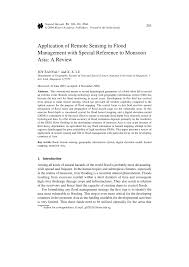 Map Of Monsoon Asia by Application Of Remote Sensing In Flood Management With Special