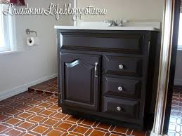 Painted Vanities Bathrooms 100 Bathroom Challenge Painting The Vanity Lansdowne Life