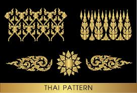 golden thai ornaments vector material 08 vector ornament