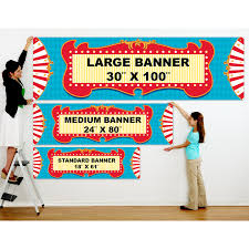 custom circus invitations carnival games personalized vinyl banner birthdayexpress com