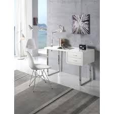 pieds bureau bureau 2 tiroirs en mdf laqué blanc et pieds en acier max