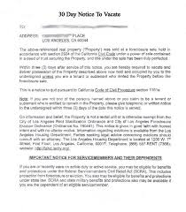 sle eviction notice maine printable sle 30 day notice to vacate template form real estate