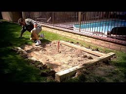 How To Build A Horseshoe Pit In Your Backyard Preparing The Backyard Horseshoe Pits For Some Summer Fun Youtube