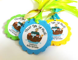noah ark baby shower noah s ark party favor tags for kids birthday or baby shower