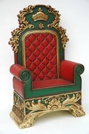 Throne Style Chair Butlers And Signs Store Has This Large Santa Throne That Can Be