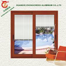 sunshade aluminum louvre with adjustable blind between the glass