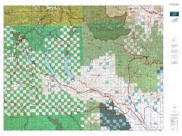 Washington State Topographic Map by Wa Gmu 335 Teanaway Map Mytopo