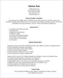 nursing skills resume 14 resume templates labor and delivery nurse