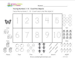 Abc Practice Worksheets For Kindergarten Tracing Numbers 1 10 Teaching Pinterest Worksheets Numbers
