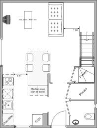 plan table de cuisine aménagement cuisine salle à manger 47 messages
