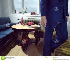 living room suit man in suit walking away from telephone royalty free stock images