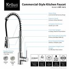 Kitchen Faucet Single Handle Kitchen Faucet Kraususa Com