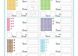 tens and units worksheets printable 1st grade place value worksheets free printables education