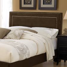 buy amber upholstered headboard size king fabric pewter