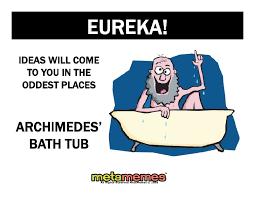 Eureka Bathtub 2 Think Cube Workshops Introduction To Think Cube V2