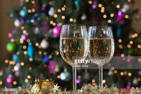 christmas trees at wine and cheese party stock photo getty images